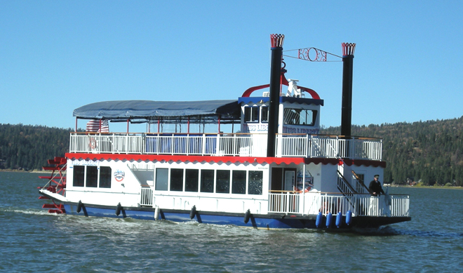 Miss Liberty tours on Big Bear Lake