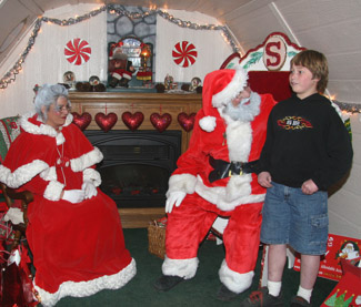 Santa Claus in Big Bear Village