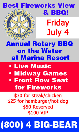 Rotary July 4th Barbecue ad for Big Bear Today