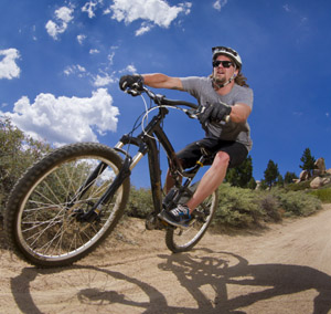 Mark Lowa Biking at Big Bear