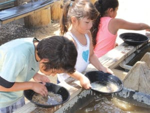 Panning for gold at Big Bear Museum