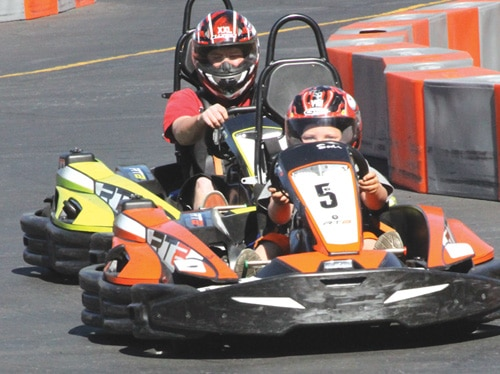 Kart racing at Big Bear Speedway