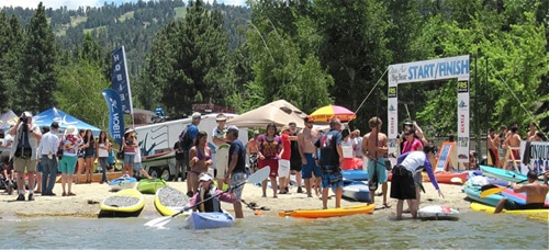 SUP, Kayak, Canoe Races and Beach Party at June 10 Paddle Big Bear