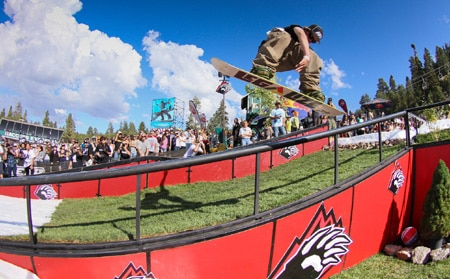 Summer Snowboard Contest With Top Pros, Snoop Dogg at Hot Dawgz and Hand Rails