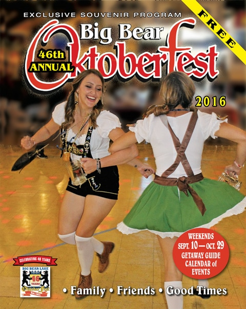 Schedule, Discounts in Free Official 2016 Big Bear Oktoberfest Souvenir Magazine