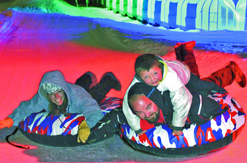 Glow Tubing at Big Bear Snow Play