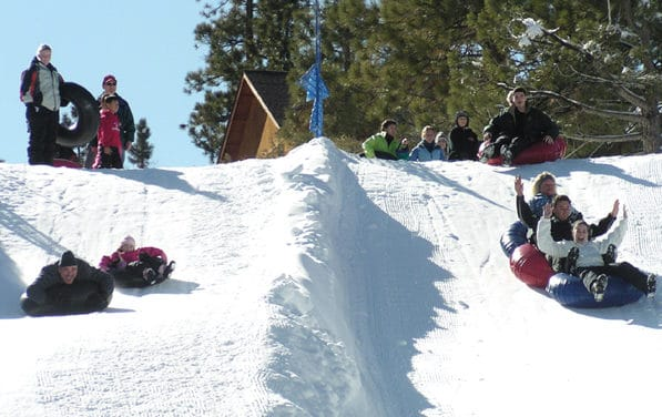 Tubing at Big Bear Snow Play
