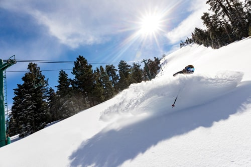 Powder at Big Bear Mountain Resorts