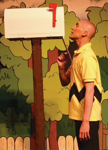 Charlie Brown on stage in Big Bear
