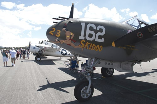 Vintage Planes, Skydivers, Displays at Free Big Bear Air Fair on August 26